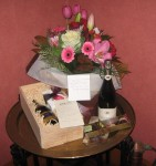 Flowers, wine, chocolate -- celebration is in the air :)