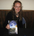 "Beaulah Pragg with her debut novel ""Silver Hawk"""
