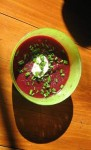 Beetroot soup, River Cottage style