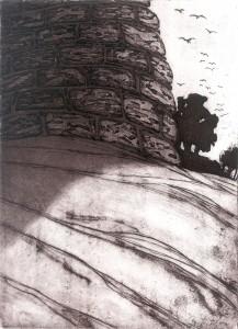 Hill Tower, Jaransor; art by Peter Fitzpatrick