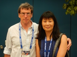 June & Simon at Sasquan; photo, Steve Lopata