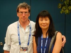 June & Simon at Sasquan; photo, Steve Lopata