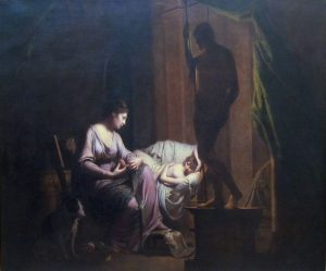 Joseph Wright of Derby. Penelope Unravelling Her Web by Lamp Light. exhibited 1785 Source: Wikimedia Commons