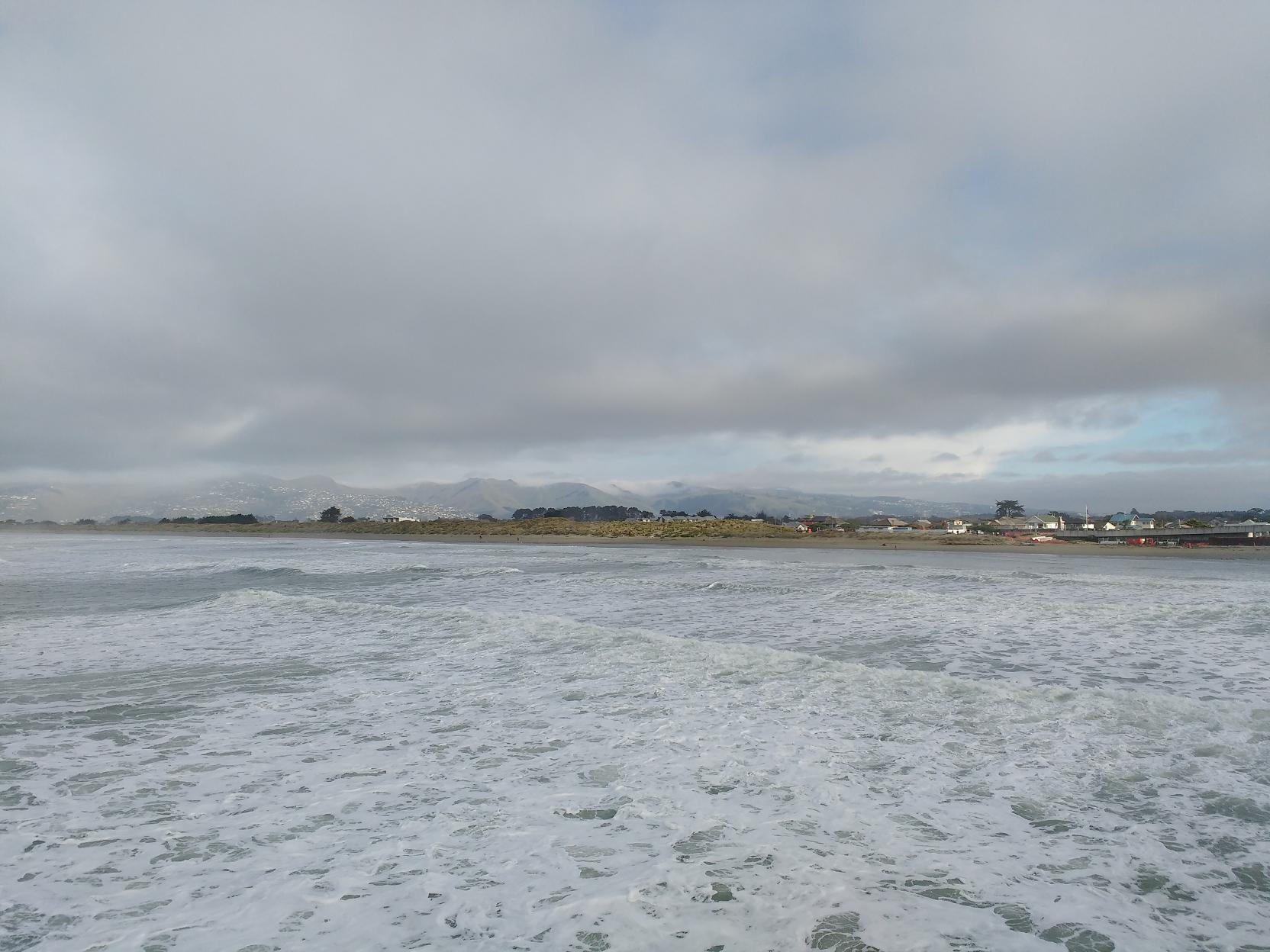 Sea haze over the Port Hills